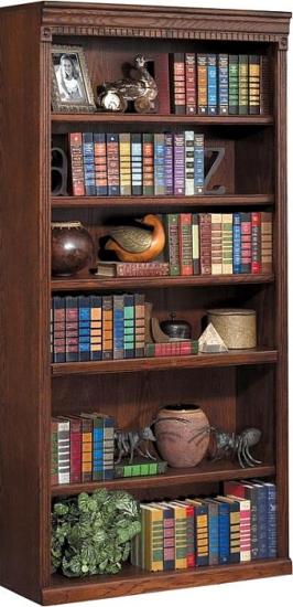 Huntington Oxford 72 Open Bookcase Burnish Furniture