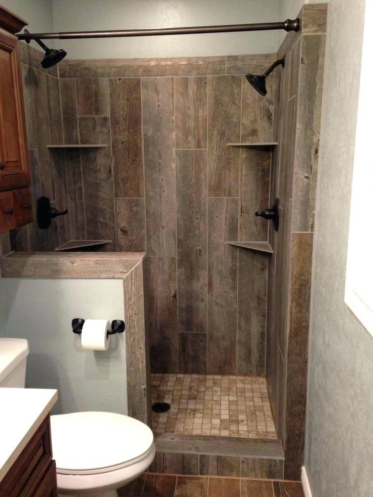 Walk In Shower Wood Look Ceramic Small Rustic Bathrooms Beautiful Small Bathrooms Wood Tile Shower