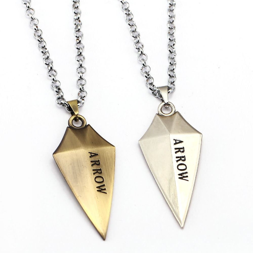 2 Style ARROW Necklace Oliver Queen Cool Pendant Fashion link chain  Necklaces Friendship Gift Jewelry Accessories