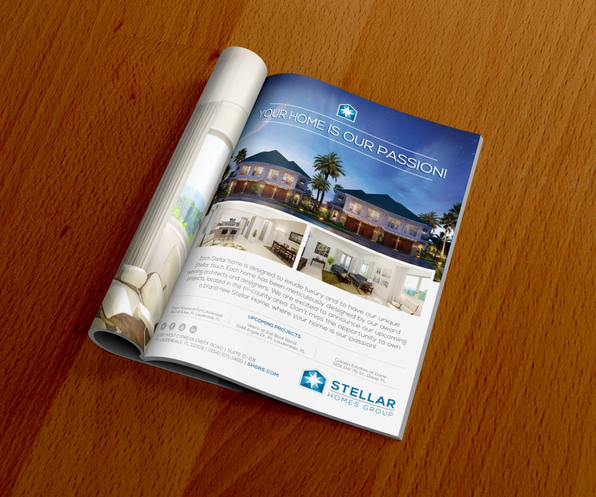 Stellar Homes Group, Magazine Ad Design. Print Collateral ...