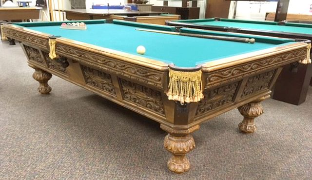 Antique Brunswick Barcelona Pool Table Antique Brunswick Barcelona - Pool table side panels