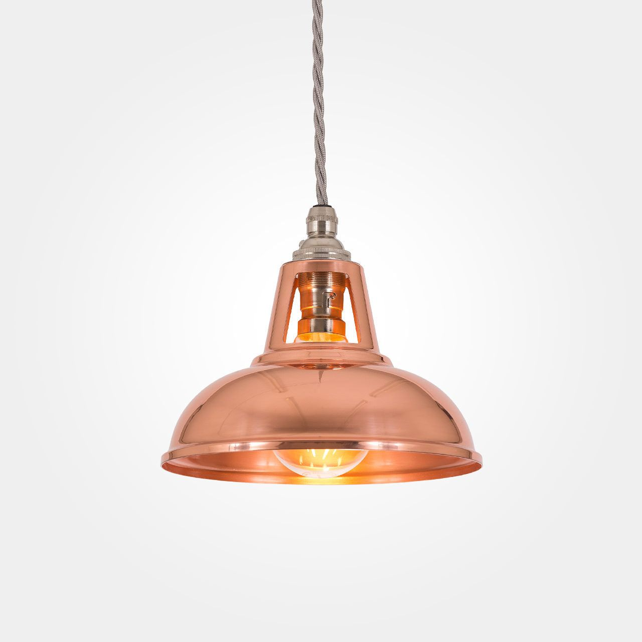 Micro Coolicon Industrial Copper Pendant Light Pendant Lighting - Kitchen light fixtures uk