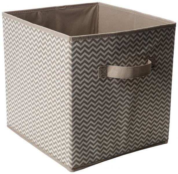 Exceptional Axis Storage Cube   Taupe/Natural / Chevron Fabric   Senior Single    Pinterest   Chevron Fabric, Storage Cubes And Storage