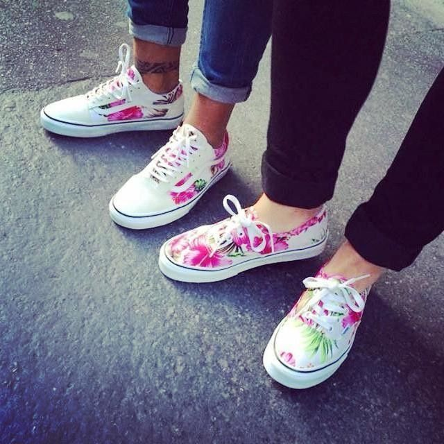 db48593c701abc Matching shoes  vans  shopping  shoes  shoeaddict  spring  bff  friends   gift  flower  summeriscoming ☀ w   sandra kom. Hawaiian Floral Authentic  ...
