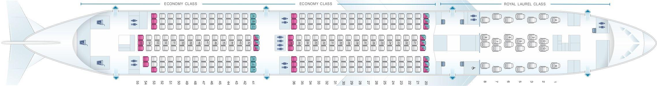 EVA Air Fleet Boeing 7879 Dreamliner Details and Pictures