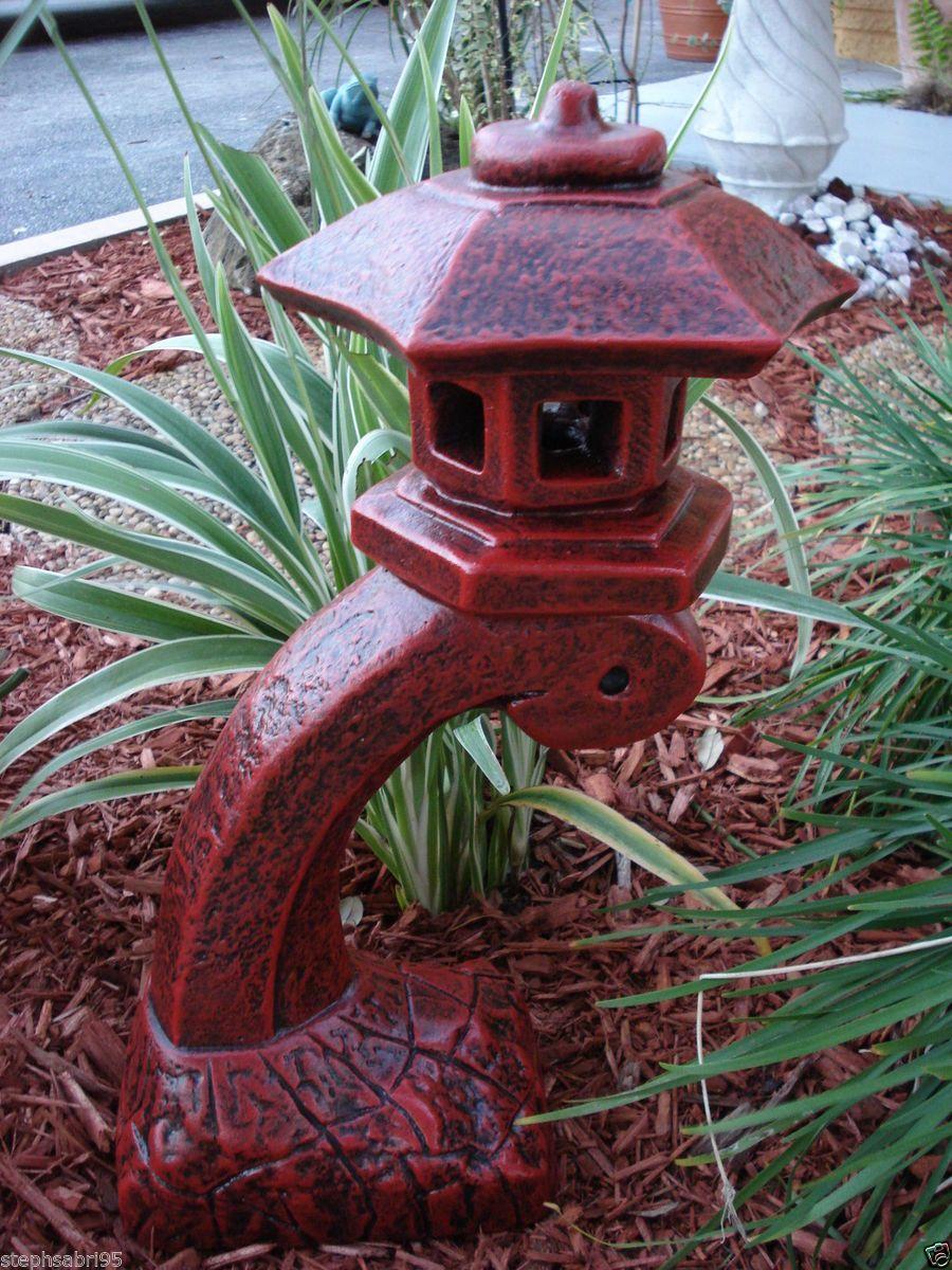 Superbe Japanese Garden Decor   Pagoda Oriental Stone Concrete Lantern Statue Red Garden  Decor Yard