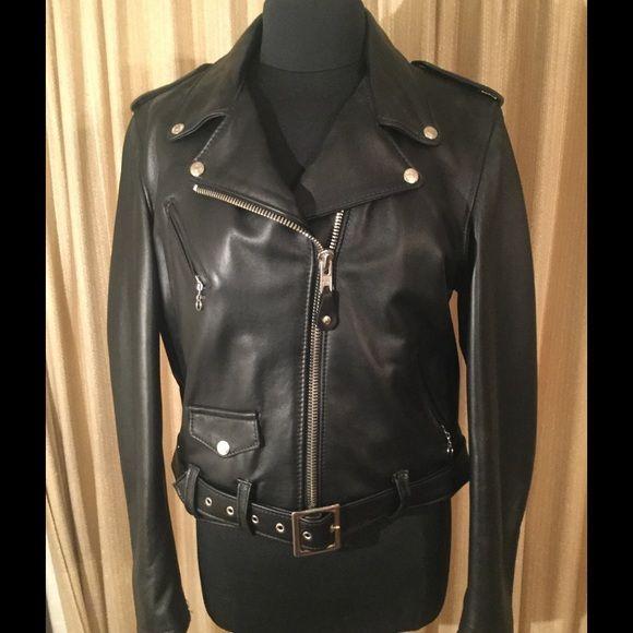 7ae206de7 Schott Perfetto motorcycle jacket XL Gorgeous Black Leather Women's ...