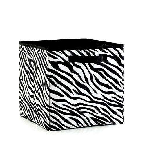 Wonderful Zebra Print Organizing Cube Is Perfect For Hand Towels, Linens, Cleaning  Supplies, For