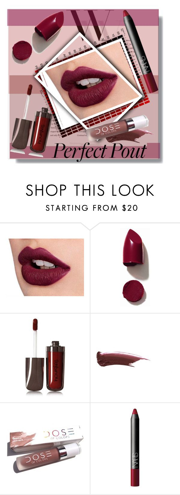 """""""Matte"""" by drigomes ❤ liked on Polyvore featuring beauty, Balenciaga, NARS Cosmetics and Hourglass Cosmetics"""
