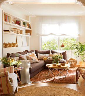 10 salones peque os con ideas geniales ideas para - El mueble salones pequenos ...