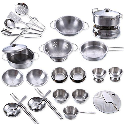 32pcs Set Stainless Steel Kitchen Cookware Christmas Present