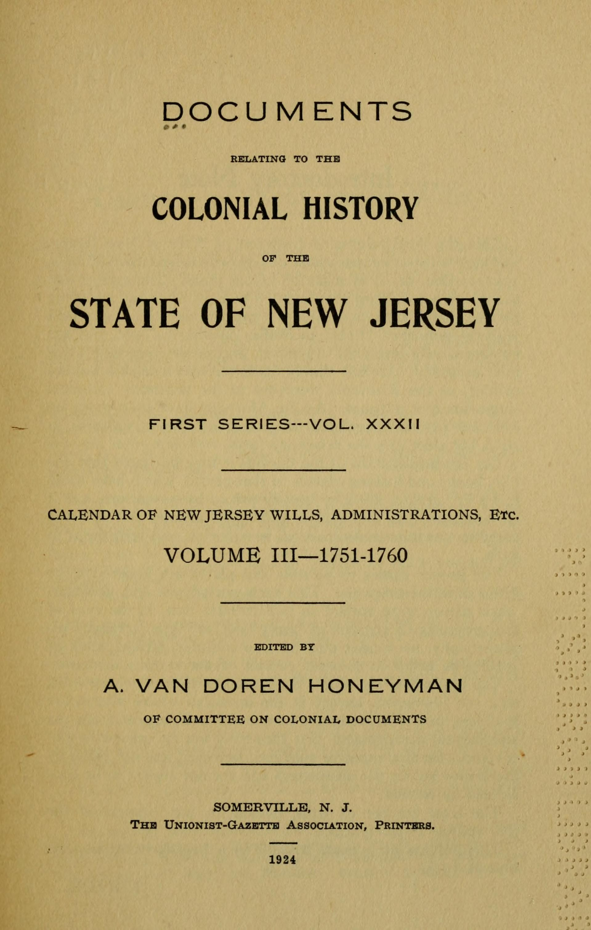Documents Relating To The Colonial Revolutionary And Post