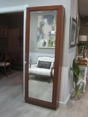 Zapatero con espejo muebles auxiliares recibidores - Zapatero poco fondo ...