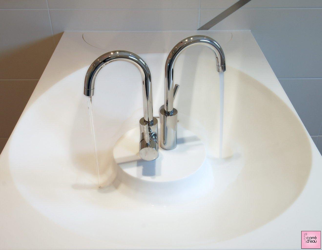 double vasque et double robinet idee sdb salle de bain. Black Bedroom Furniture Sets. Home Design Ideas