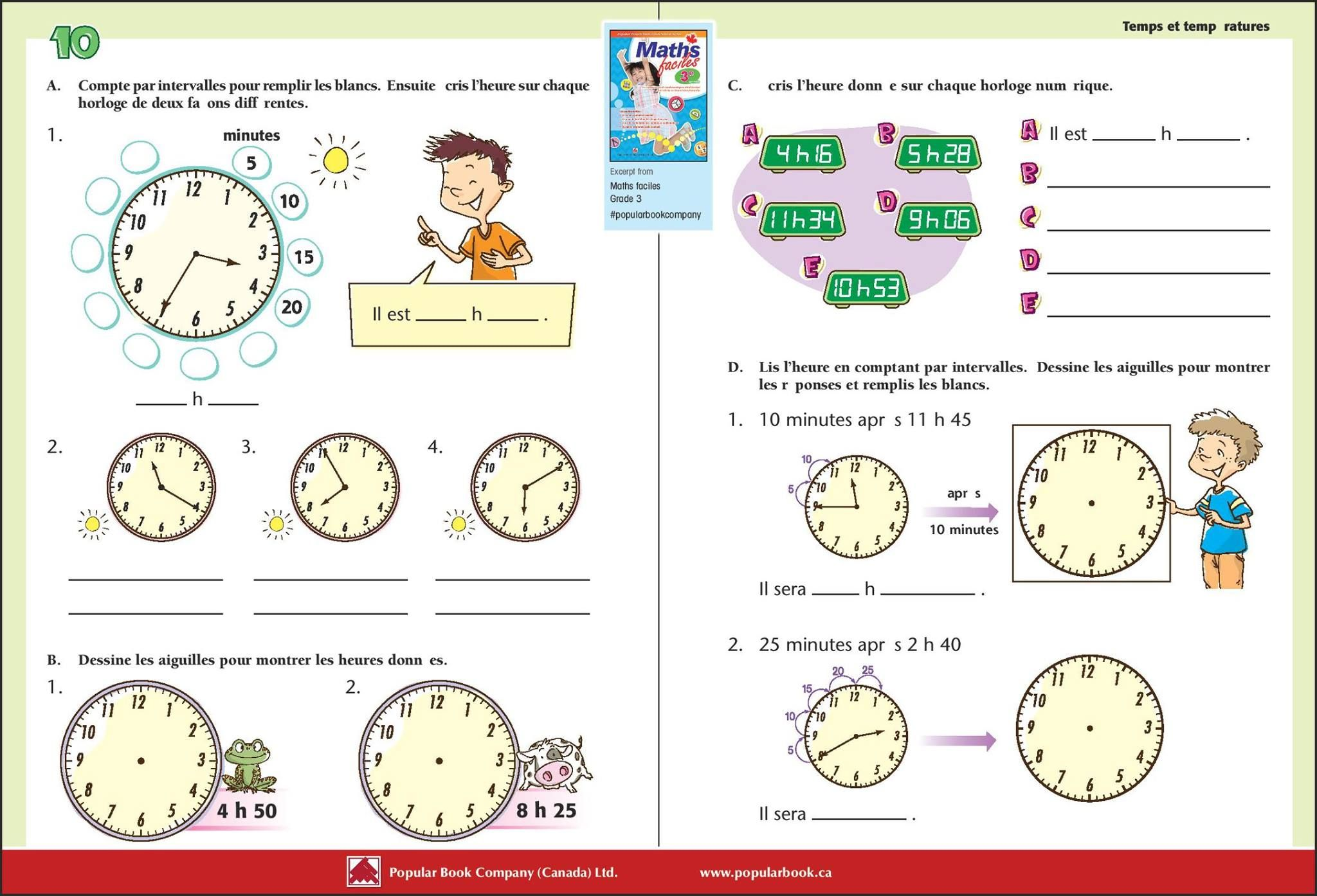 Let Your Child Learn To Tell And Show The Time In French