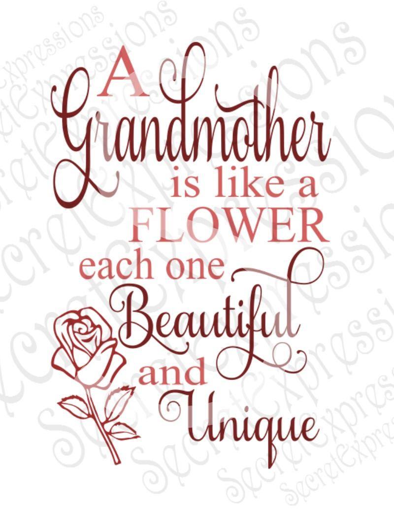 Download Grandmother is like a flower Svg, Family, Digital SVG File ...