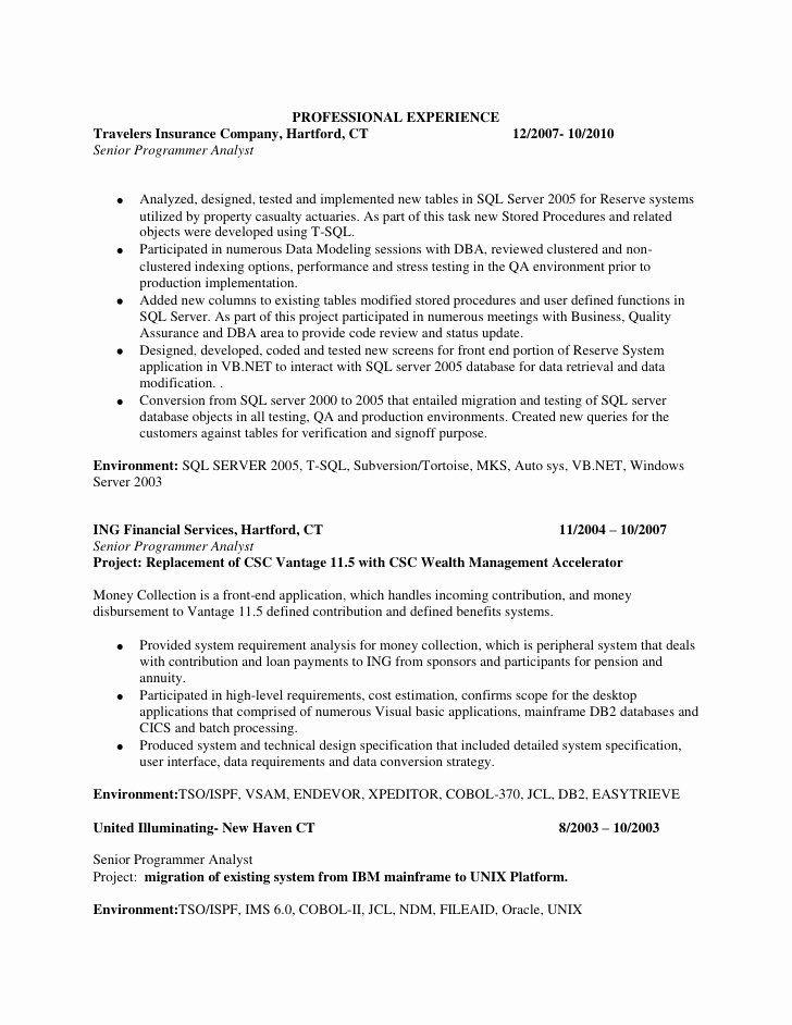 Entry level sql developer resume luxury resume sql server