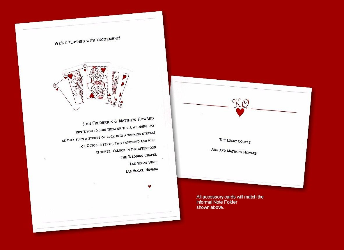 Royal Flush Wedding Invitation- $1.54 each when you purchase 100 ...