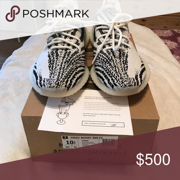 Adidas Yeezy Boost SPLY 350 zebra by Kanye west Authentic adidas Yeezy  Boost 350