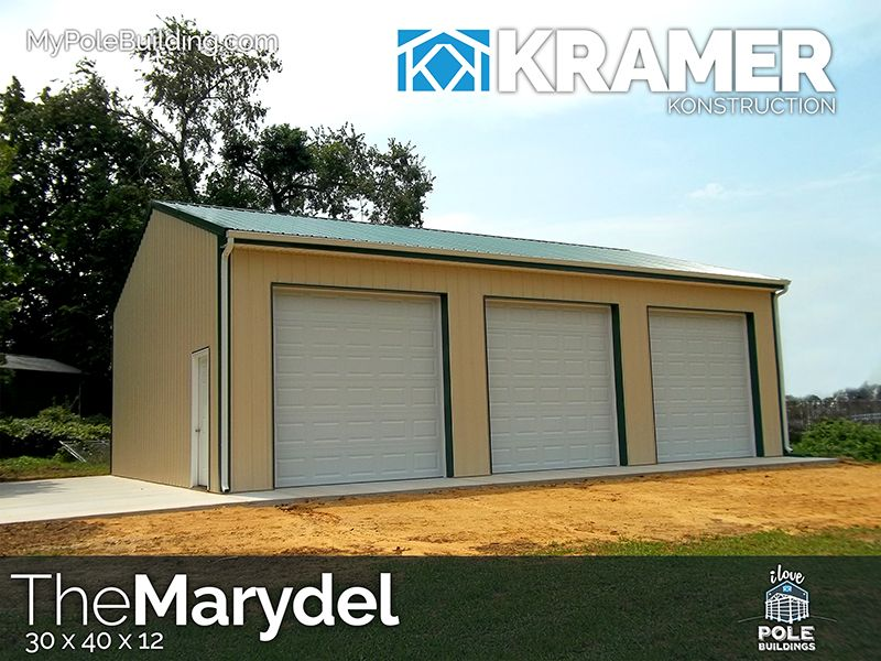 The Marydel 30 X 40 X 12 View Configure And Price This Building At Http Www Mypolebuilding Com Building Outdoor Decor Outdoor