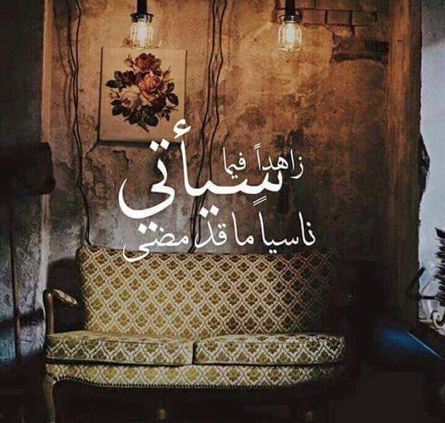 زاهدا فيما سياتي ناسيا ما قد مضى Arabic Quotes Words Quotes Photo Quotes
