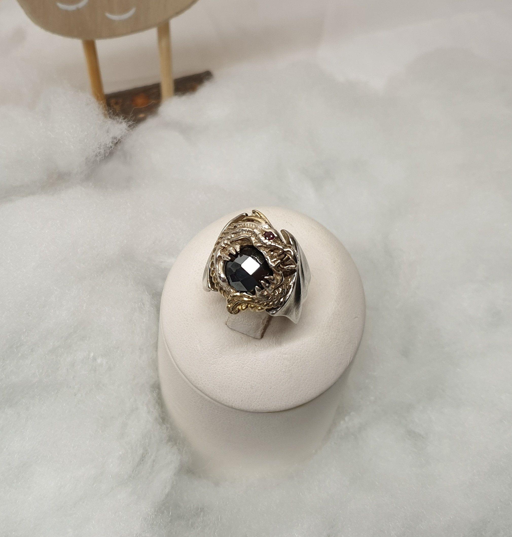 Schützender Talisman          VERSCHIEDENE GRÖßEN Atlanten Ring aus Silber 925