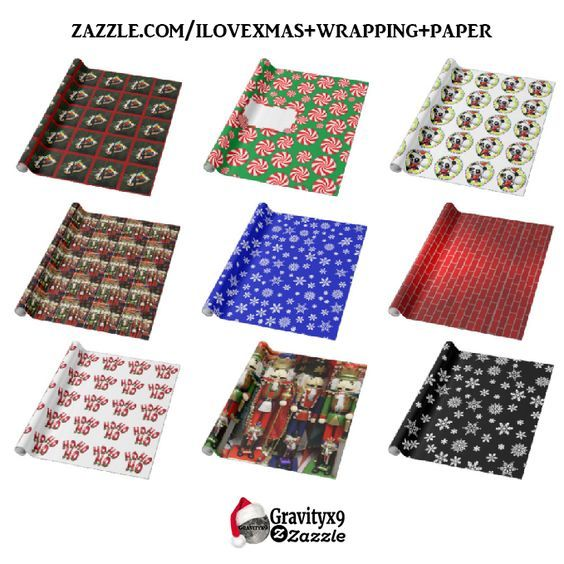 Check out the variety of Christmas gift wrapping paper by #iLoveXmas