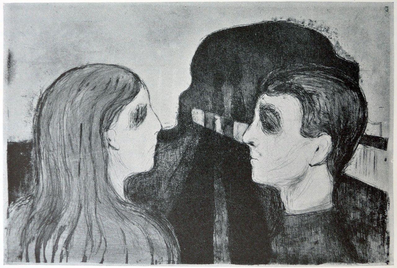 Edvard Munch (1863-1944) - 1895, Man and woman