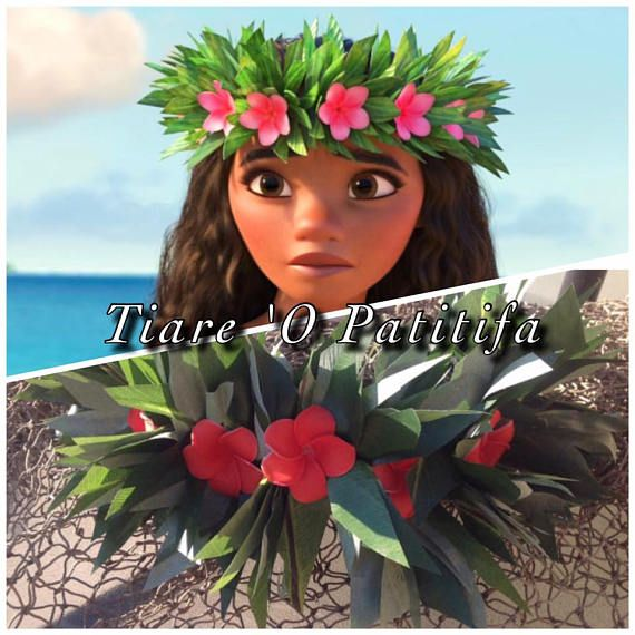 a2a7eb1a91 This is a sample of one of our Moana inspired headpieces. Please allow 1  week production time for this item. If you need It sooner