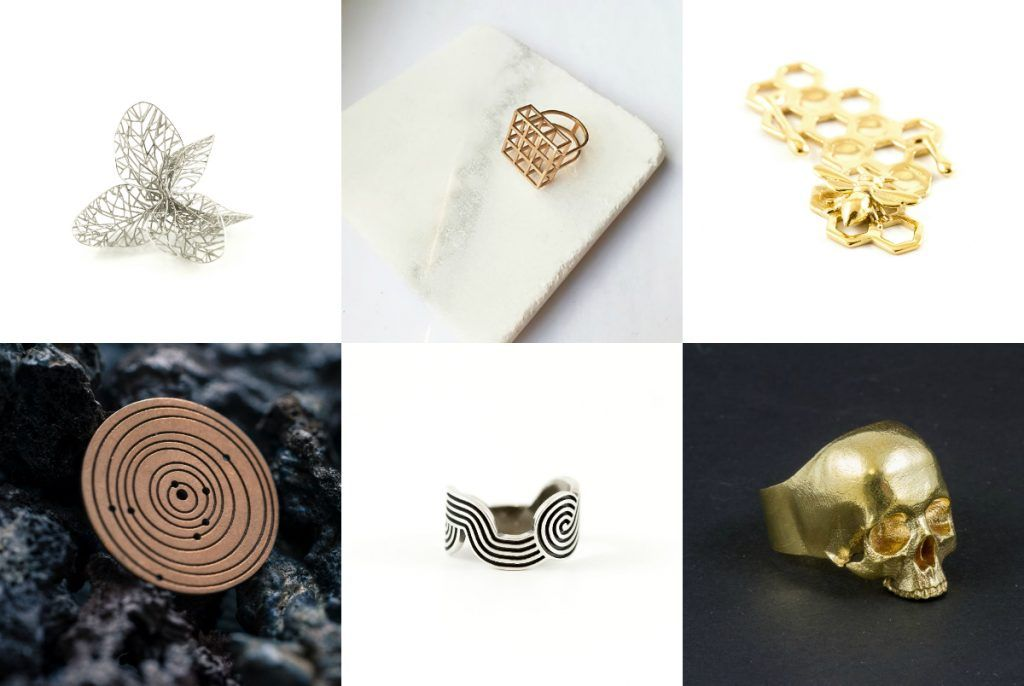 silver and brass jewelry prints Gold