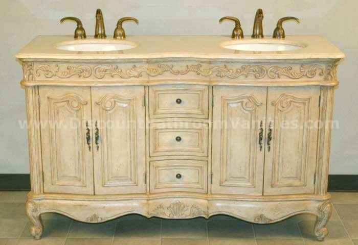 Silk Road Exclusive Antique Double Sink Vanity Hy 0145 58 By