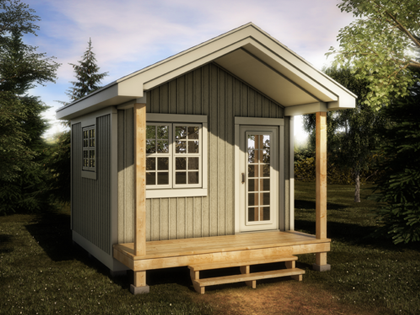 Make a beautiful retreat for your summer guests by for 12x12 house plans