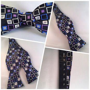 Multicolor square bow tie self bow tie. 10% off #bowtie. Get your #bowties! www.novemberpeacock.com