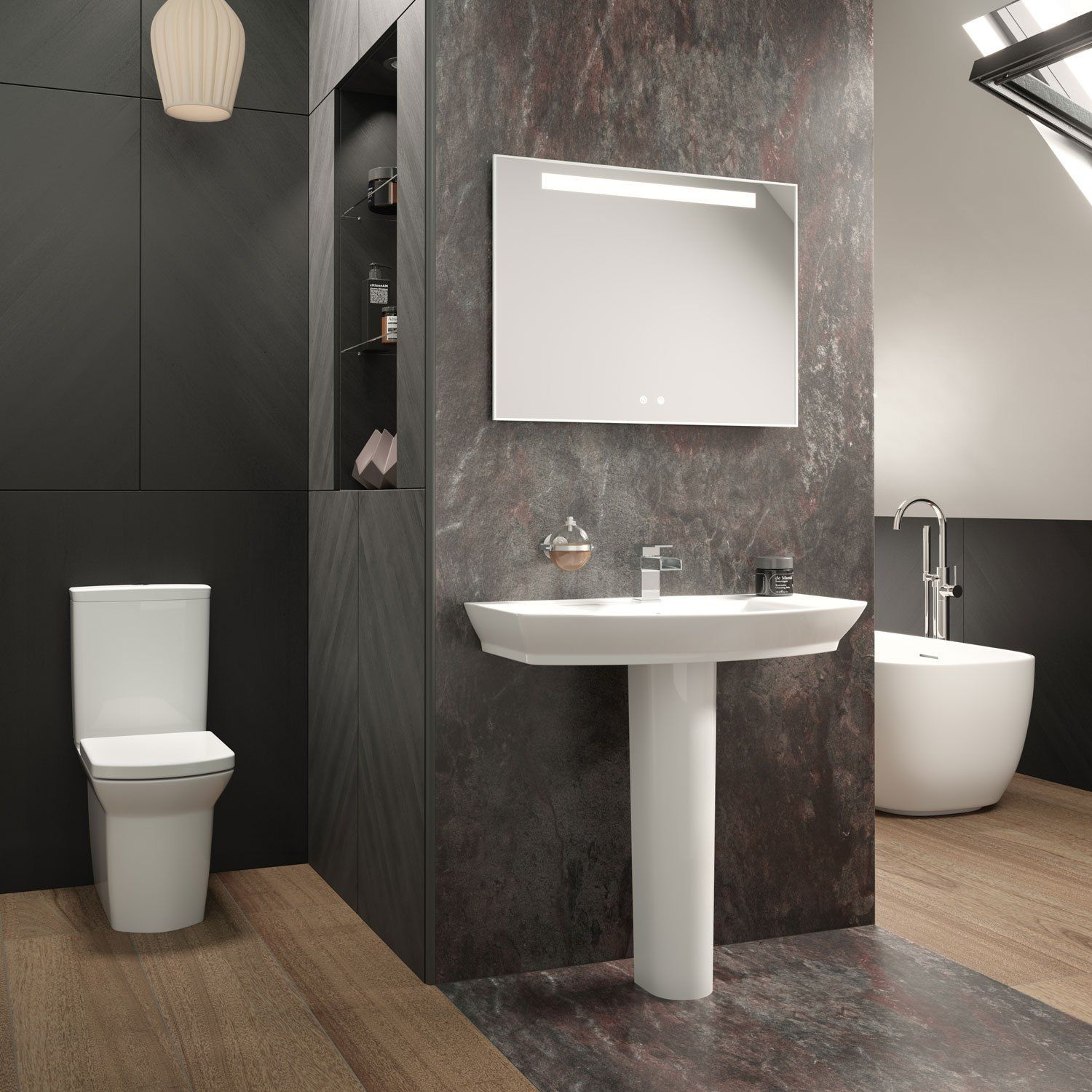 Hudson Reed Vizor Bathroom Mirror 600Mm H X 800Mm W