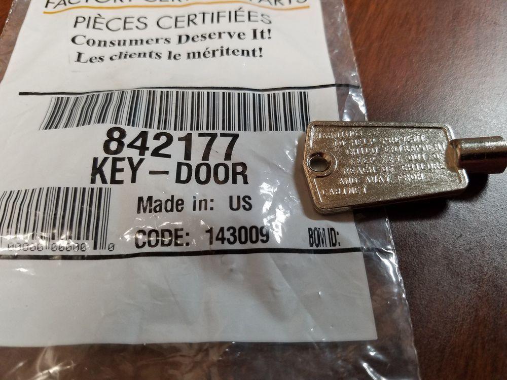 WHIRLPOOL/SEARS KENMORE FREEZER DOOR KEY (5 SIDED) - 842177