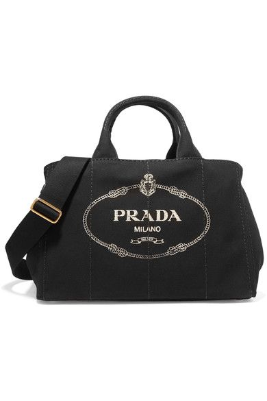 5a0520b6f2 Prada - Giardiniera Large Printed Canvas Tote - Black | Products ...