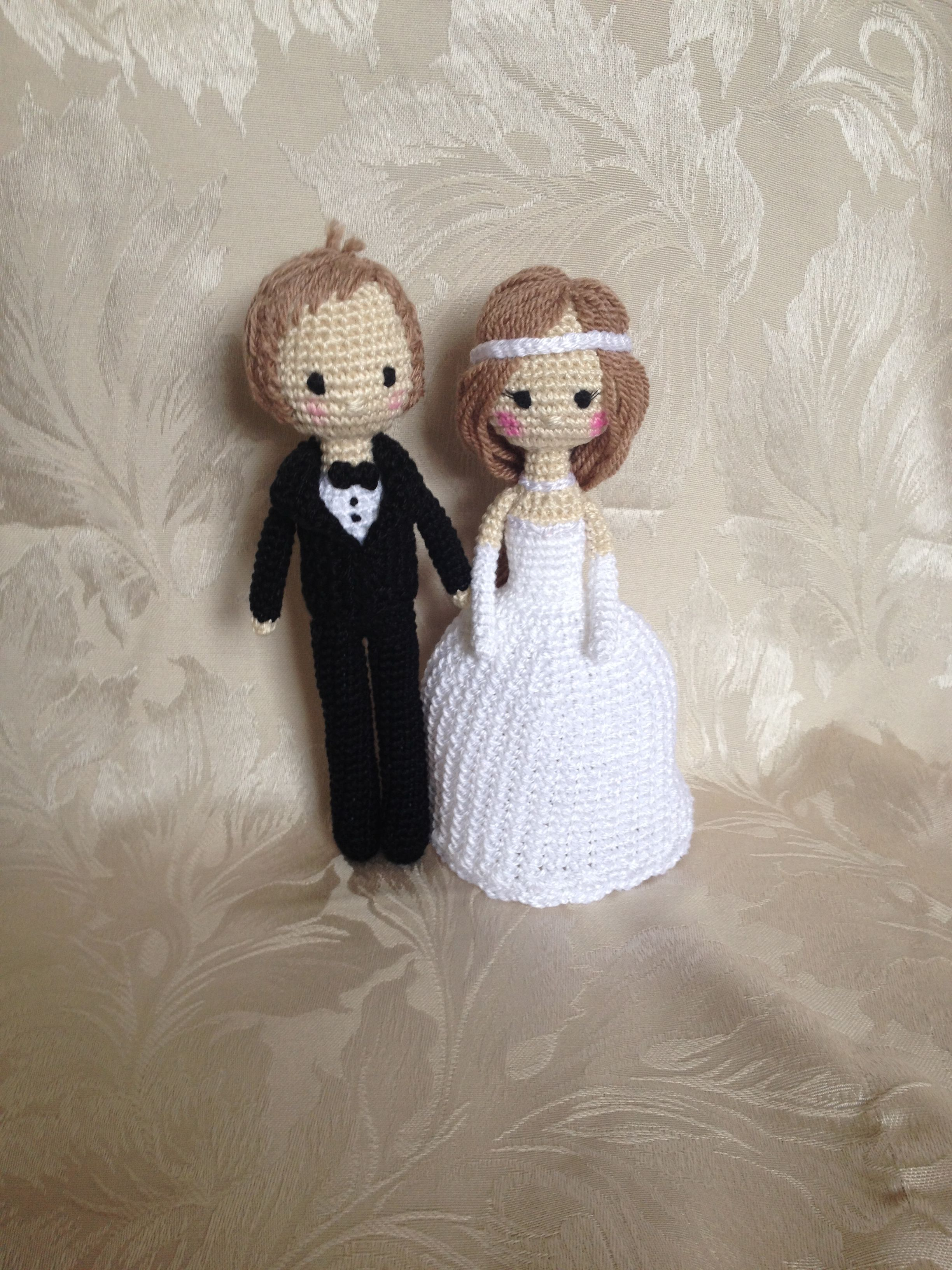 crocheted bride and groom Amigurumis Pinterest ...