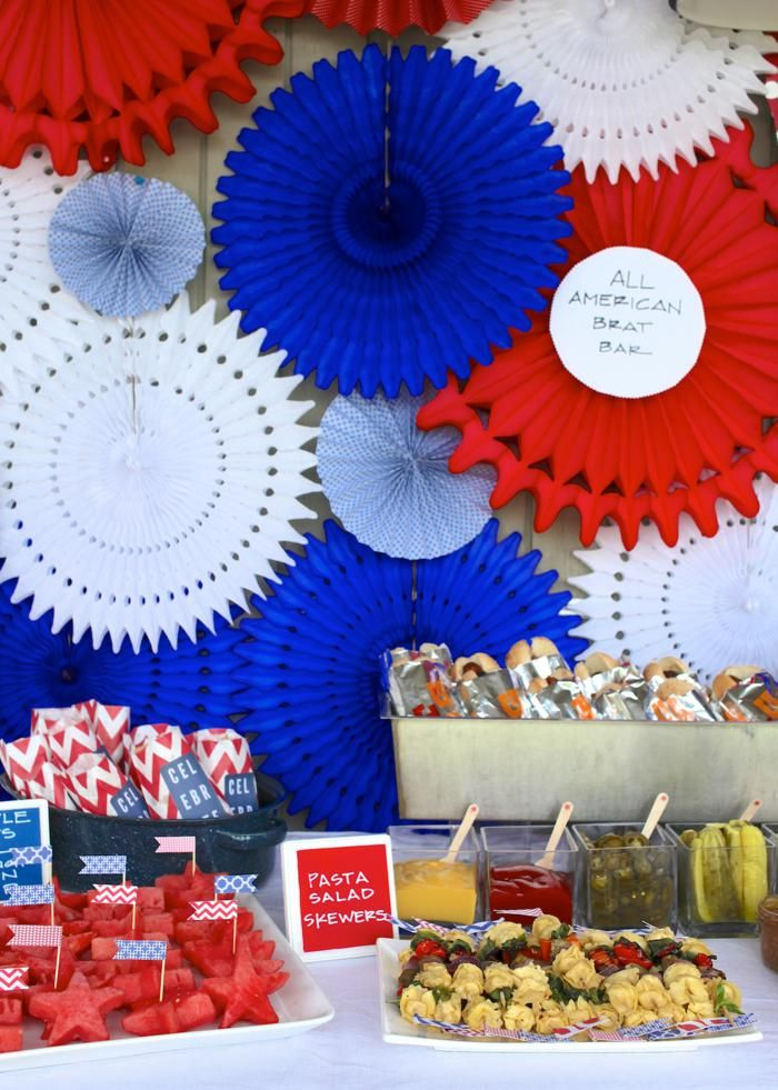 4th of July outdoor summer patriotic party planning ideas ...