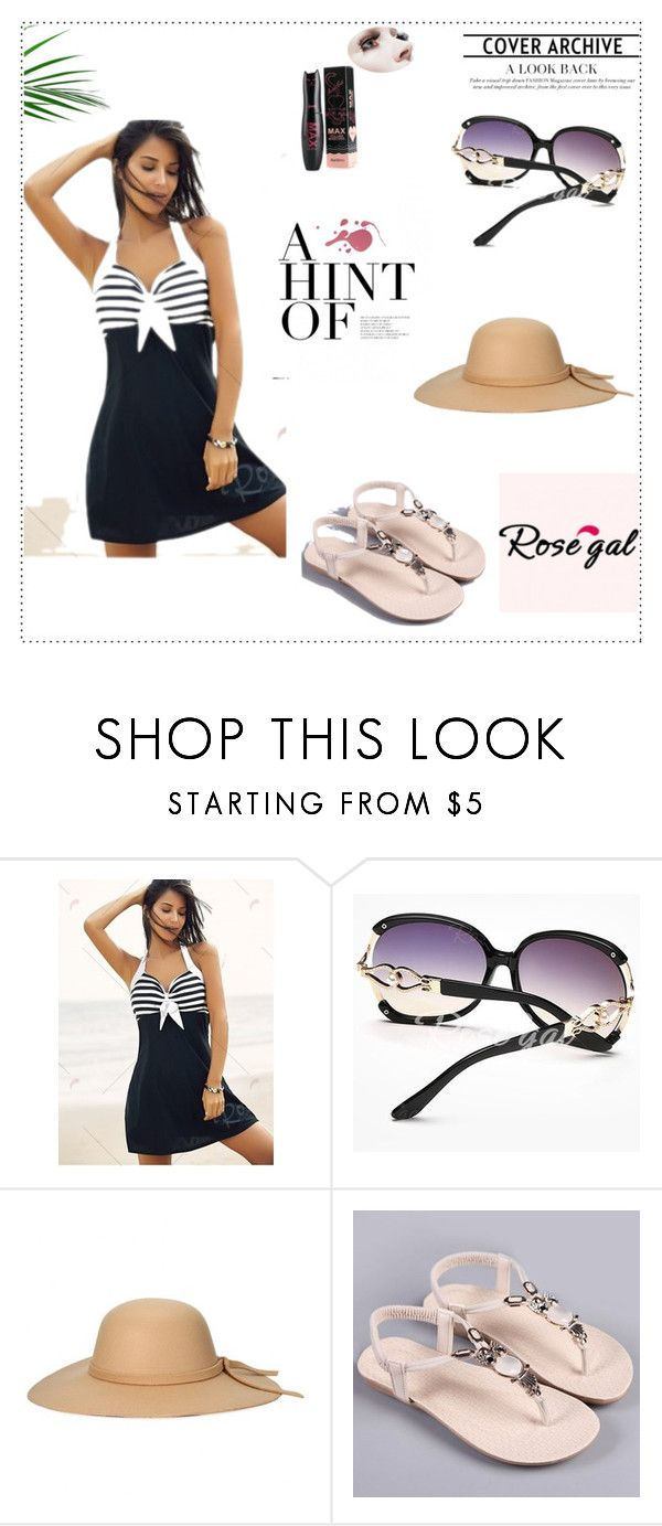 """Rosegal - Free shipping worldwide 25/90"" by deemonk ❤ liked on Polyvore featuring rosegal"