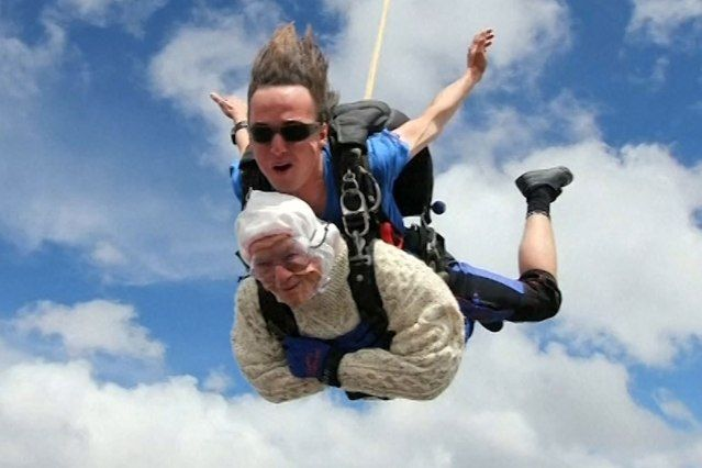 Australian Woman Becomes Oldest Skydiver at 102 | Current ...
