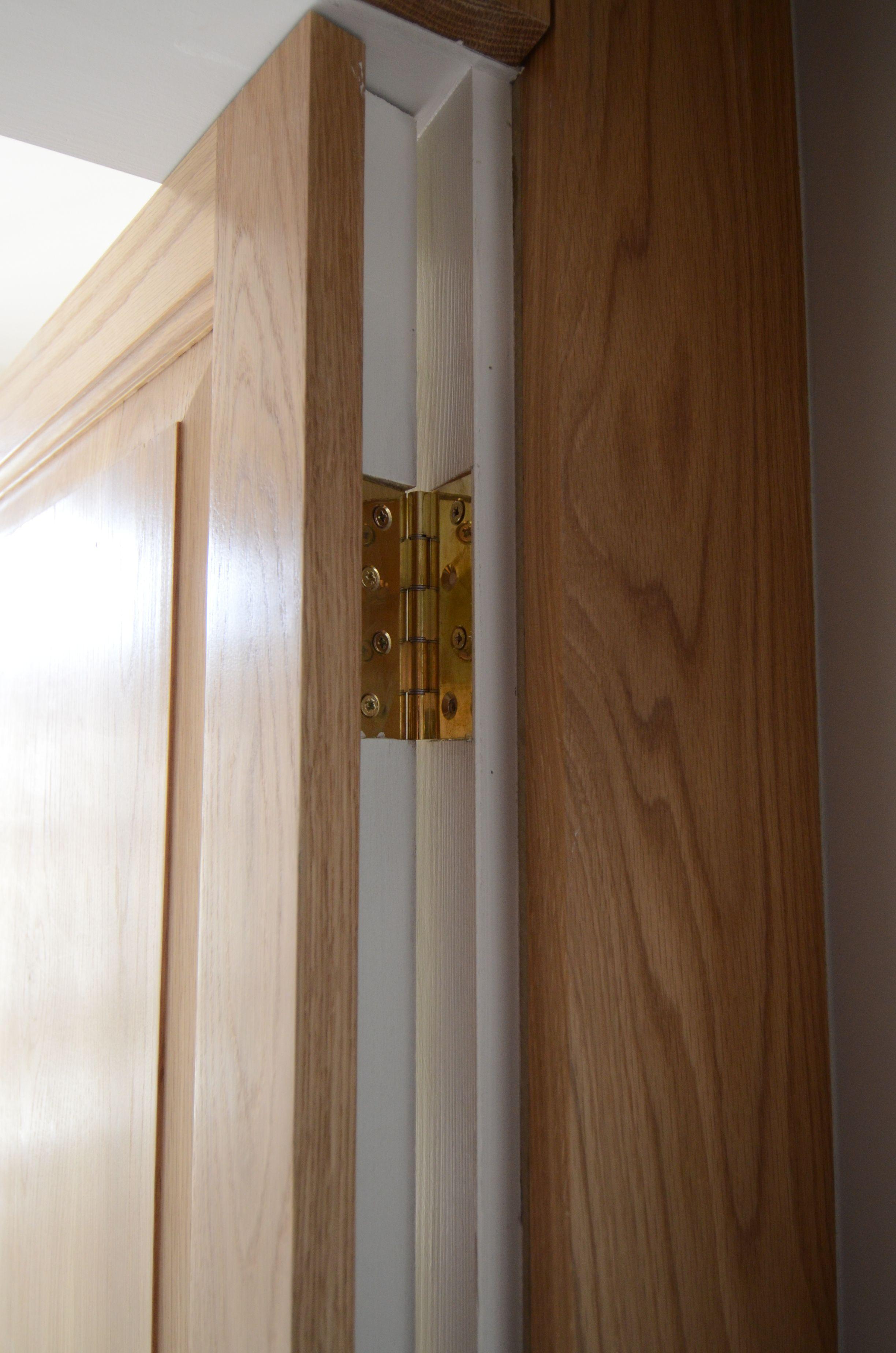 Hinge Detail On Oak Jib Door