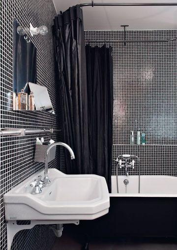 esprit loft noir et blanc pour une salle de bains trs chic appartement 20 belles salles de bains ctmaisonfr