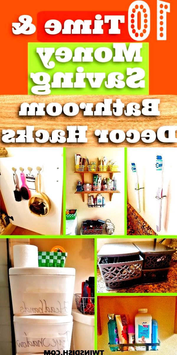 10 DIY Bathroom Decor and Organization ideas for apartment decorating on a budge...,  #Apartm... | bathroomdecor