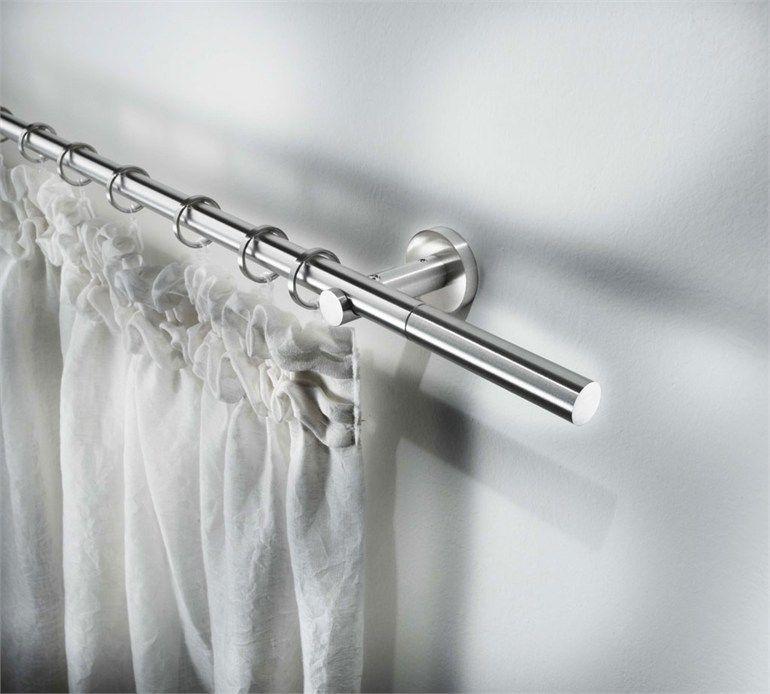 Contemporary Style Steel Curtain Rod Sirio O 20 Contemporary