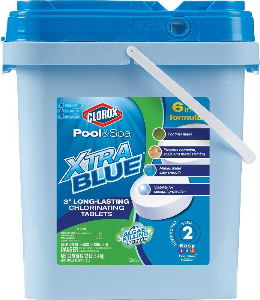 Clorox Pool Spa Xtra Blue 3 Inch Long Lasting Chlorinating Tablets 12 Pound 23012clx Clorox Pool And Spa Spa Pool Swimming Pool Chlorine