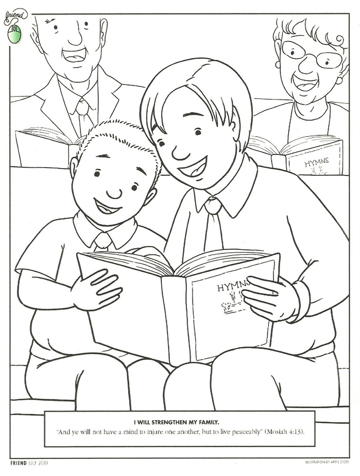 Beau Primary 3 Manual Lesson 40 Worshiping At Church Journal Page Coloring Page  From The Behold Your