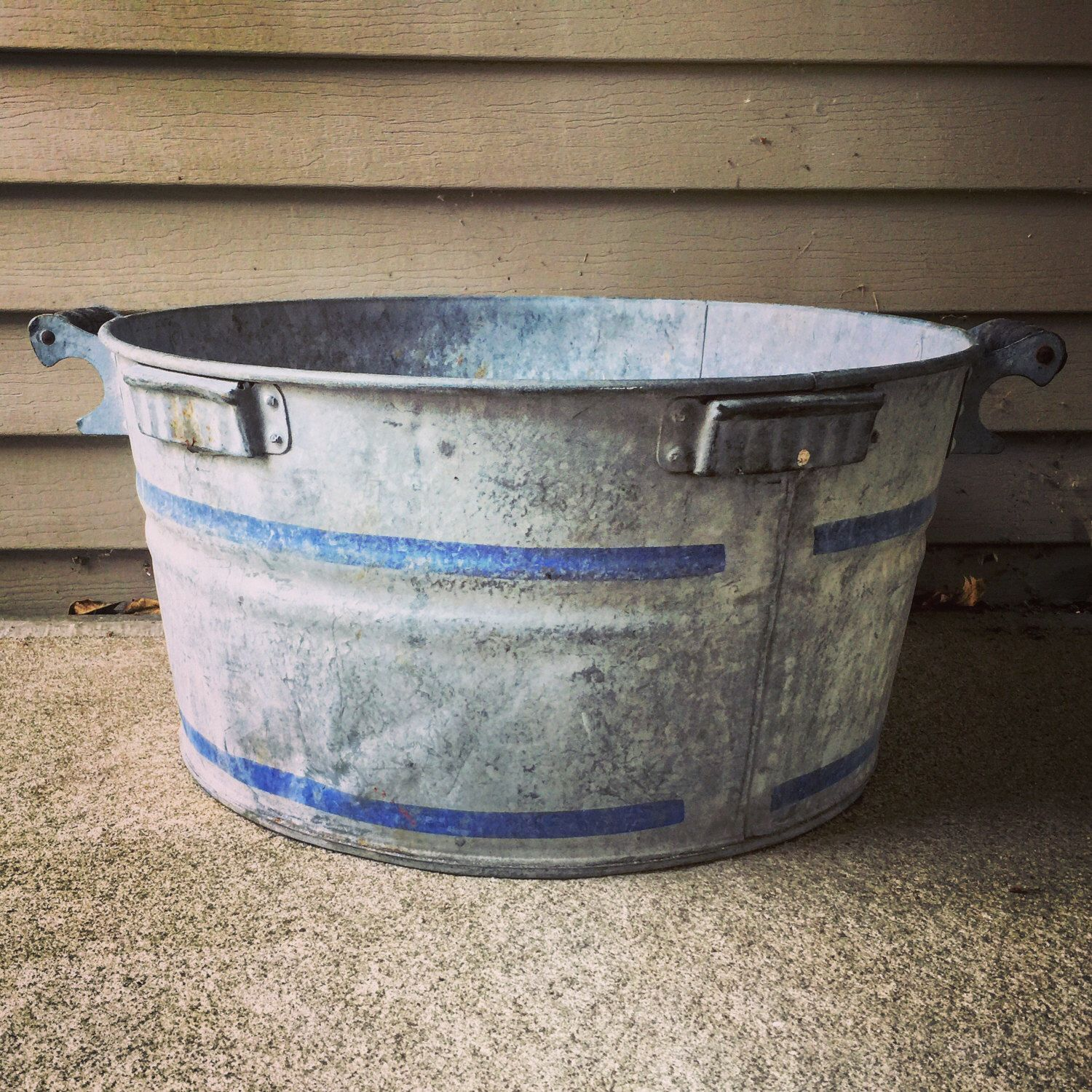 Galvanized Washtub 22 X 11 Wash Tubs Primitive Laundry Rooms Galvanized