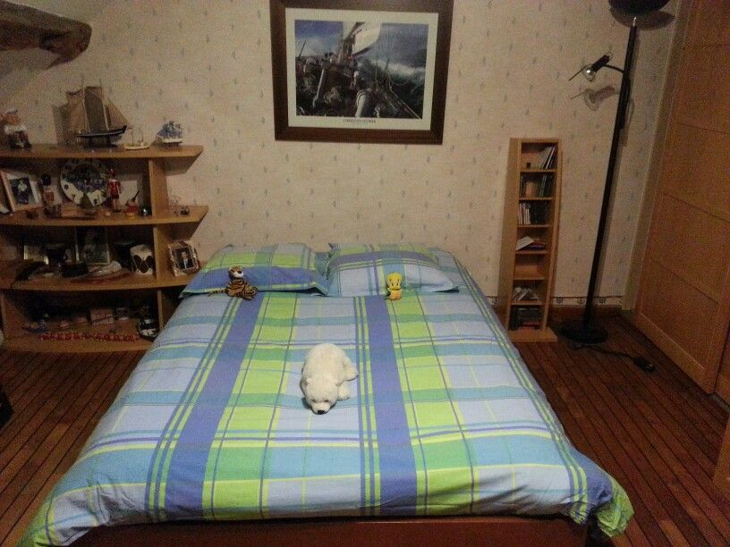 Marine deco & bright bed with animals