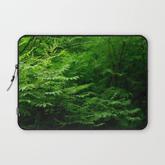 In the Forest Laptop Sleeve #atmosphere #wood #forest #heart #landscape #green #deep #photo #photography #faerieshop #mystic #mystical #beautiful #plants #fern #jungle #tropical #bush #society6 #s6 #sale