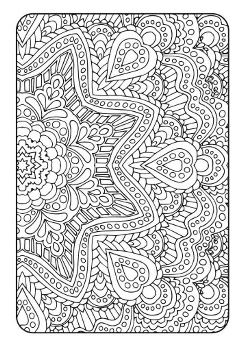 Art Therapy #45 (Relaxation) – Printable coloring pages | 1129x794